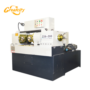 JUDU High versatility heavy type Z28-200 two rollers steel bar flat die thread rolling machine price