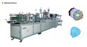 Fully automatic high capacity folded Non-woven earloop Making Machine