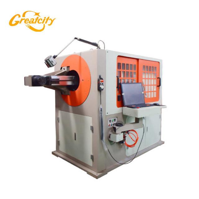 7 Axis Automatic 3D CNC steel Wire Metal Forming Machine with Cutting