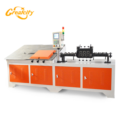 Professional Factory high precision English program system Fully automatic 2d cnc wire forming and bending machine for iron craft