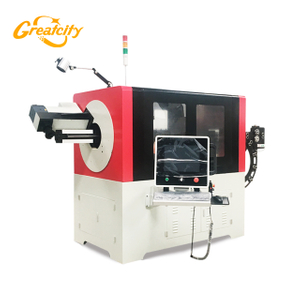 3D cnc full automatic wire copper bendings machine, feeding bending and cutting