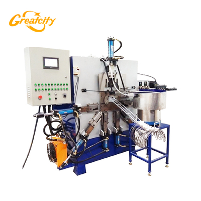 Agent price fully Automatic high speed process Mechanical or hydraulic Bucket Handle hook Machine making