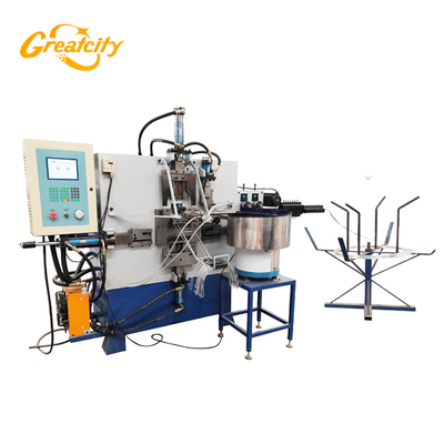 Factory cost price automatic hydraulic CNC metal wire bucket_handle_making_machine