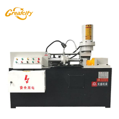 High speed anchor bolt diameter reducing machine for thread rolling