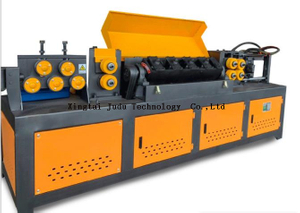 CNC Automatic 4-12 Mm Rebar Straightening And Cutting Machine / rebar straightening and cut off machine
